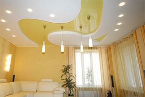 Смешанное освещение натяжных потолков