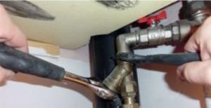Установка фильтра грубой очистки перед смесителем