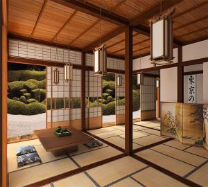 Традиционный японский интерьер