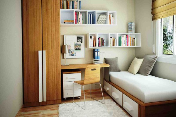 Для слишком маленьких комнат можно использовать комплексную мебель