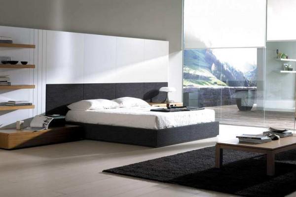 Спальня с элементами стилей модерн и хай-тек