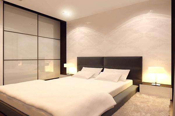 Дизайн спальни 12 кв. м. в стиле минимализм
