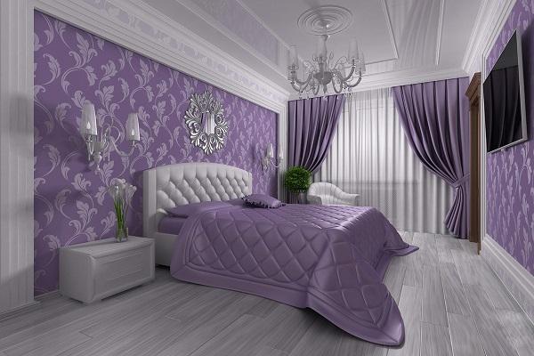 Фиолетовый цвет в дизайне интерьера: особенности применения и оптимальные сочетания цветов