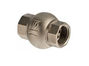 Обратный клапан тарельчатого типа с латунным диском