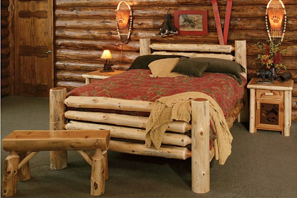 Русское кантри в интерьере спальни