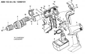 Схема разборки шуруповерта, для увеличения нажмите на картинку