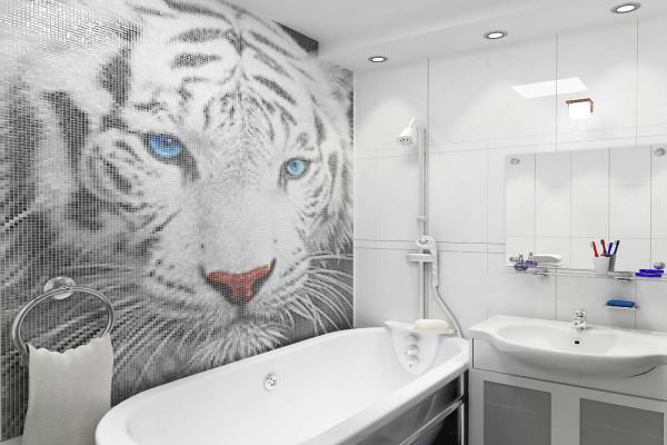 Панно из мозаики для ванной