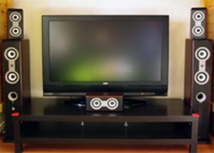 Колонки и телевизор
