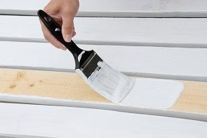 Painting wooden slats