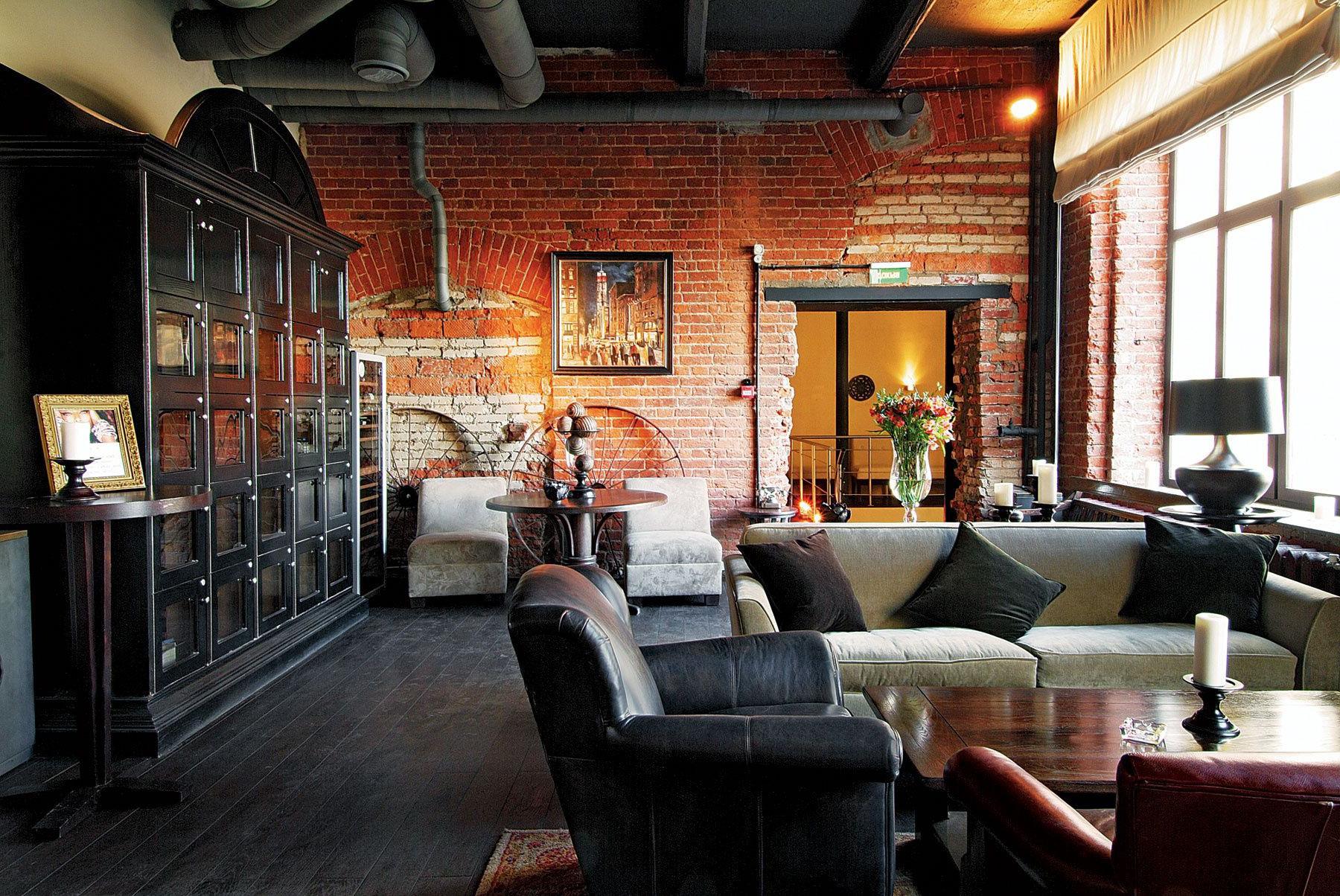 Дизайн интерьера в кафе в стиле лофт