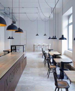 ремонт в кафе в минималистическом стиле