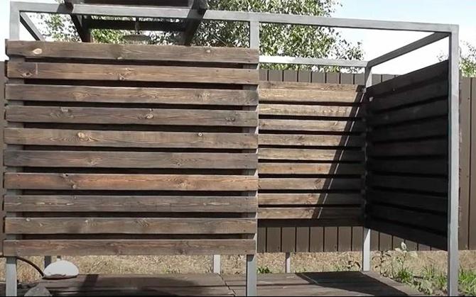 Летний душ из дерева