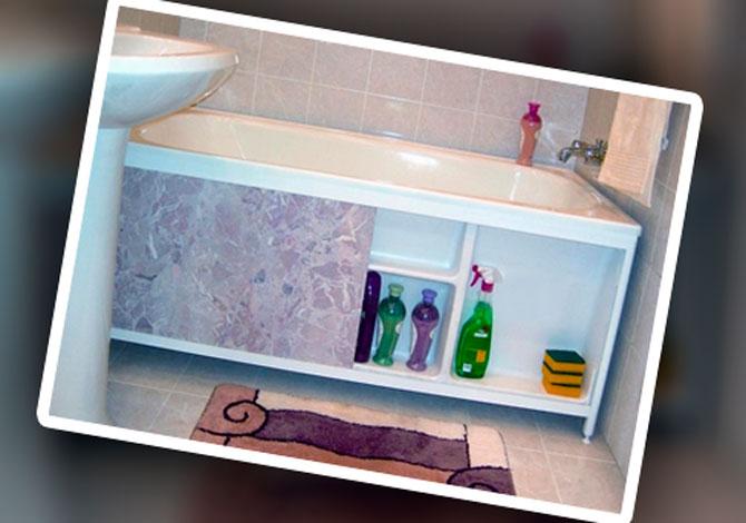 Виды экранов под ванну