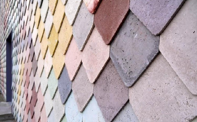 Облицовка бетонной плиткой
