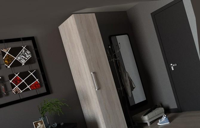 Одностворчатый шкаф спальни