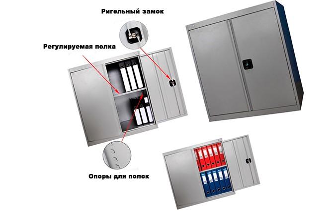 Металлический шкаф для инвентаря