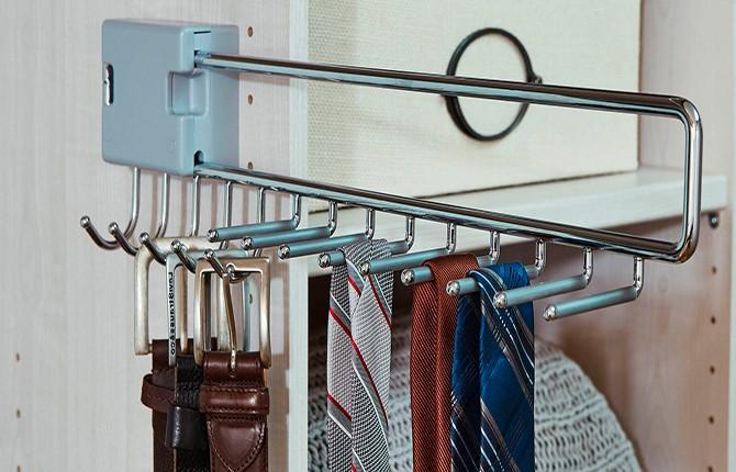 Держатели для галстуков, брюк в шкафу