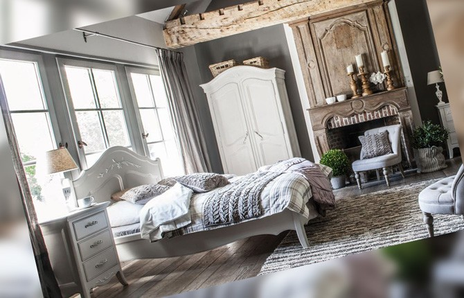 Кровать для спальни в стиле прованс