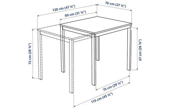 Вариант стола с раздвижным механизмом