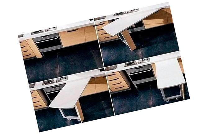 Выдвижной стол из под столешницы на колесиках