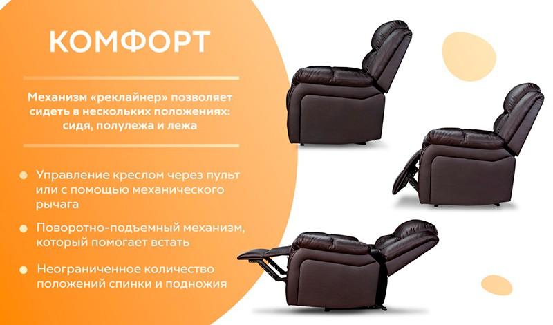 Кресло реклайнер плюсы