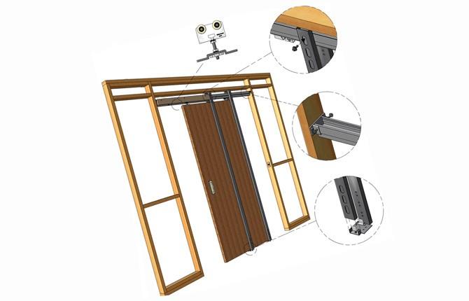 Из чего состоит раздвижная дверь для гардеробной