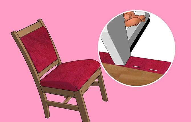Как крепить отбивку стула